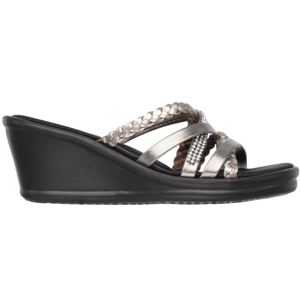 SKECHERS Women's Rumblers – Wild Child Wedge Sandals - PEWTER