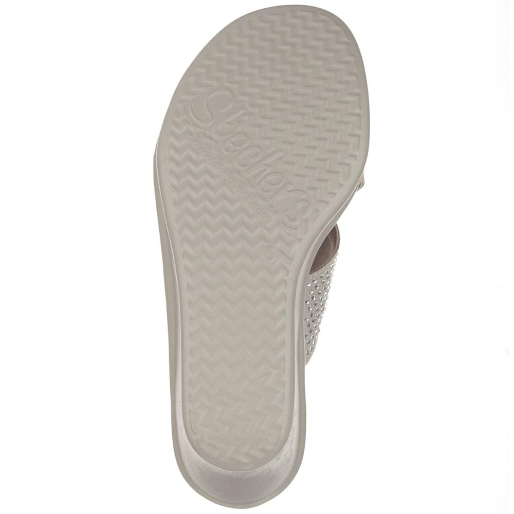SKECHERS Women's Rumblers- Metal Mama Wedge Sandals - TAUPE