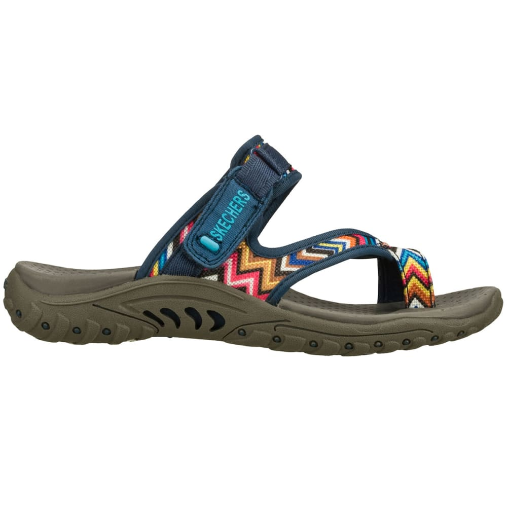 SKECHERS Women's Reggae- Zig Swag Sandals - NAVY