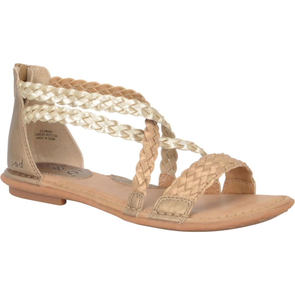 B.O.C. Women's Candee Woven Gladiators - BLOWOUT - SUNBRONZE/CHAMPAGNE