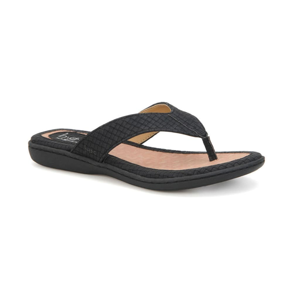 B.O.C. Women's Zita Thong Sandals - BLOWOUT - BLACK