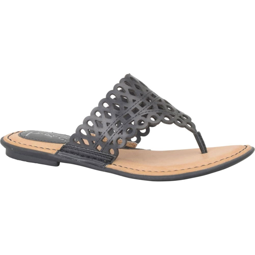 B.o.c. Women's Caree Thong Sandals - Blowout - Black, 8