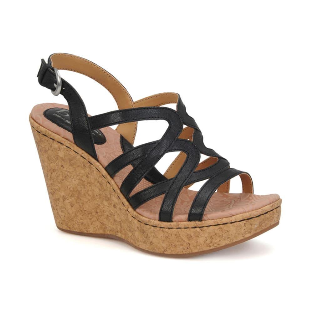 B.O.C. Women's Nilsa Wedge Sandals - BLACK