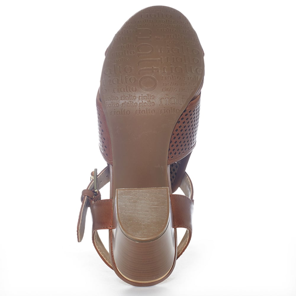 RIALTO Women's Manhattan City Heel Sandals - COGNAC