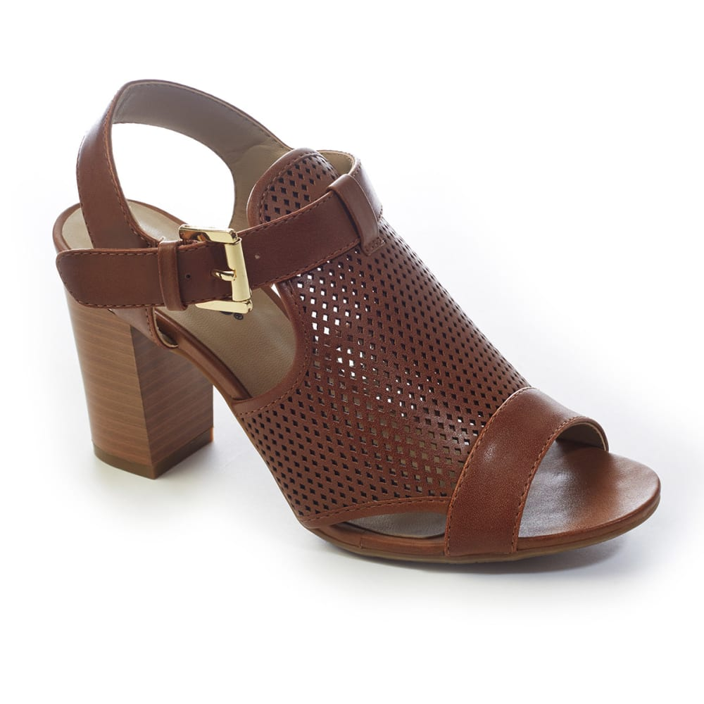 RIALTO Women's Manhattan City Heel Sandals - COGNAC