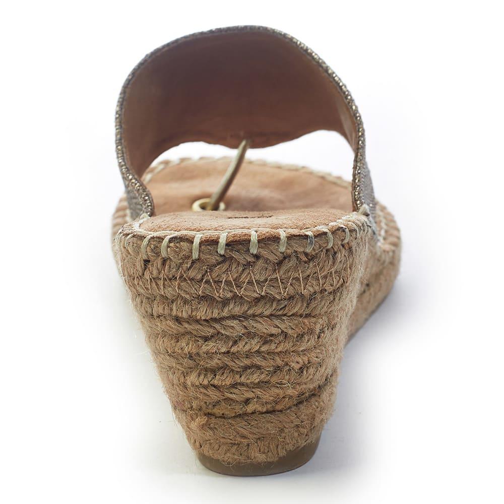 WHITE MOUNTAIN Women's Beach Ball Espadrille Wedge Sandals - GOLD