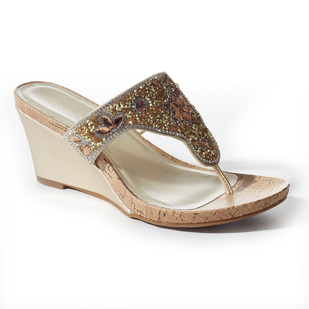 AXXIOM Women's Monroe Bling Wedges - CHAMPAGNE