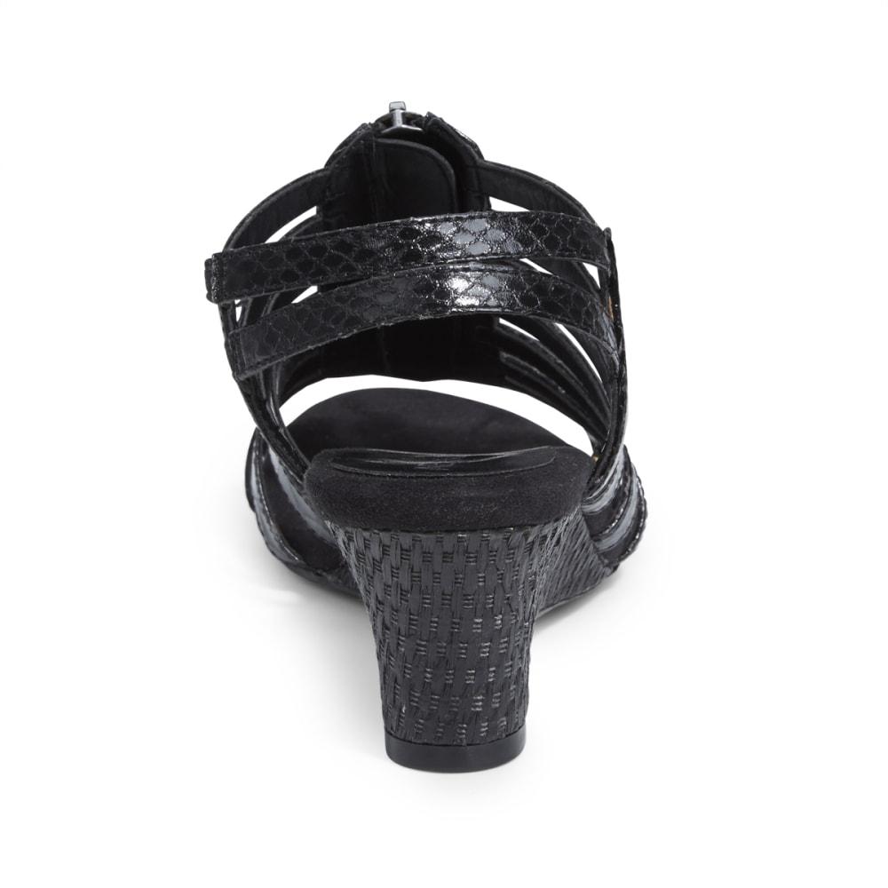 AEROSOLES Women's Half Dozen Wedge Sandals - BLACK/ELECTRIC BLUE
