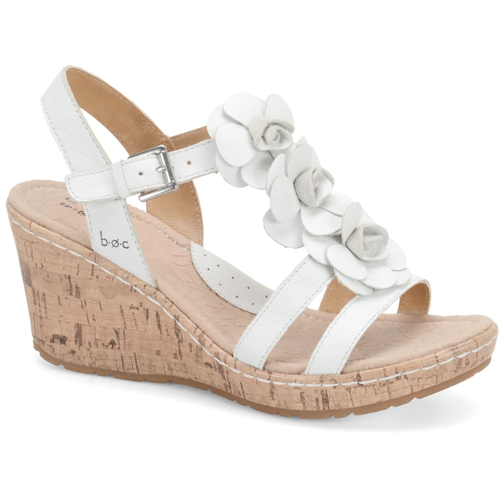 B.O.C. Cornelis Wedge Sandals - WHITE/ELEMENTAL