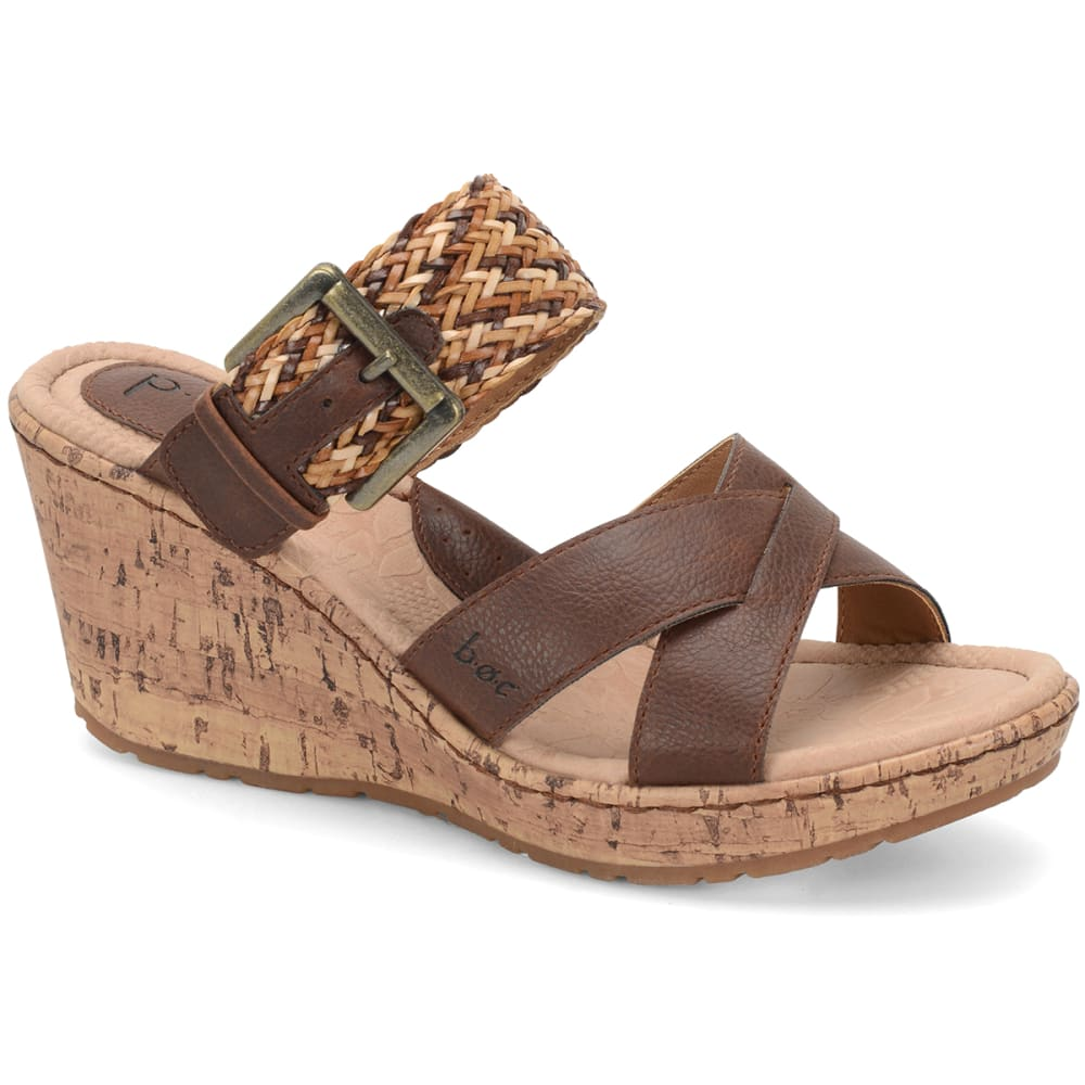 B.O.C. Women's Izabel Wedge Sandals - CHESTNUT DISTRESSED