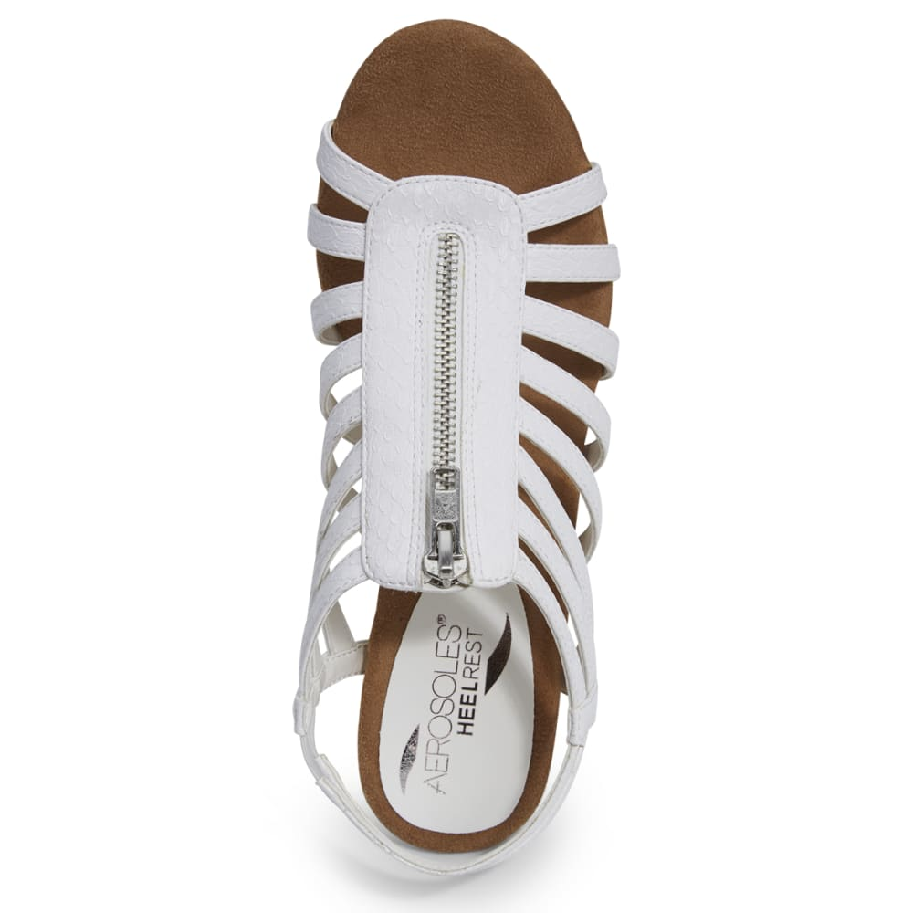 AEROSOLES Women's Half Dozen Wedge Sandals - WHITE