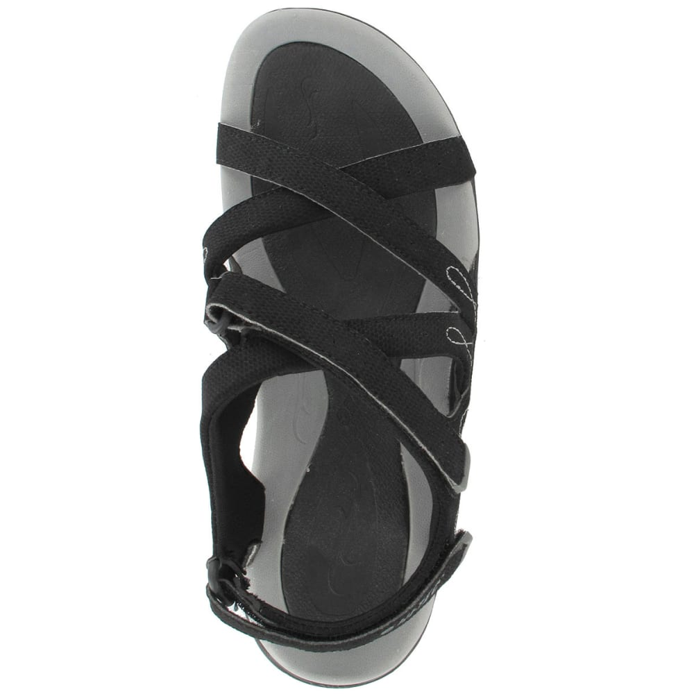HI-TEC Women's Waimea Falls Adjustable Sandals - BLACK/GREY