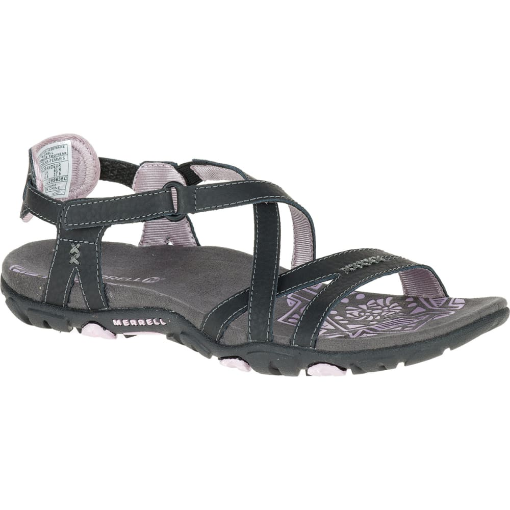 Merrell Women's Sandspur Rose Leather Sandals - Black, 8