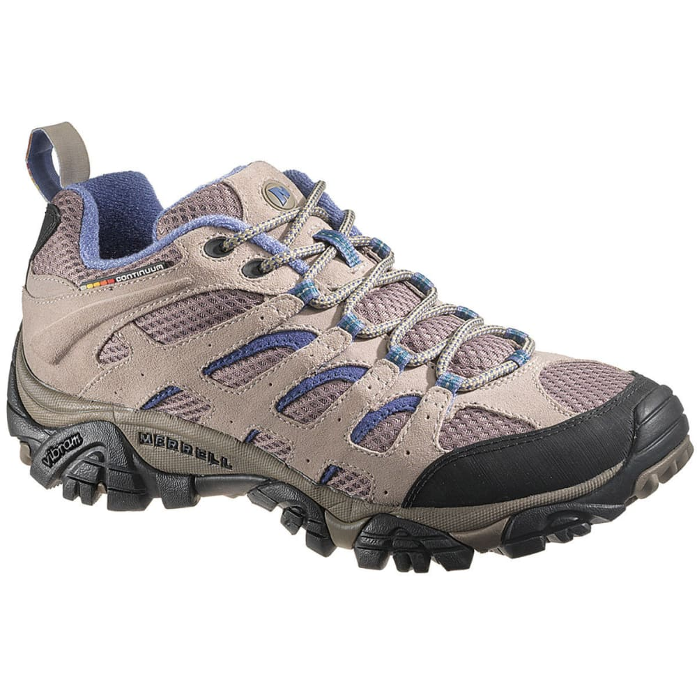 MERRELL Women's Moab Ventilator Hiking Shoes, Aluminum/Marlin - ALUMINUM