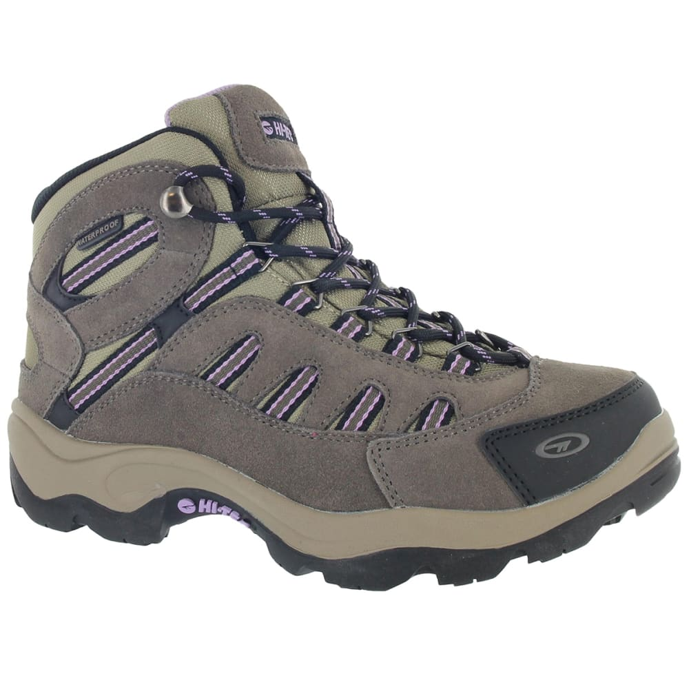HI TEC Women's Bandera Mid Waterproof Boots - DARK TAUPE/VIOLA