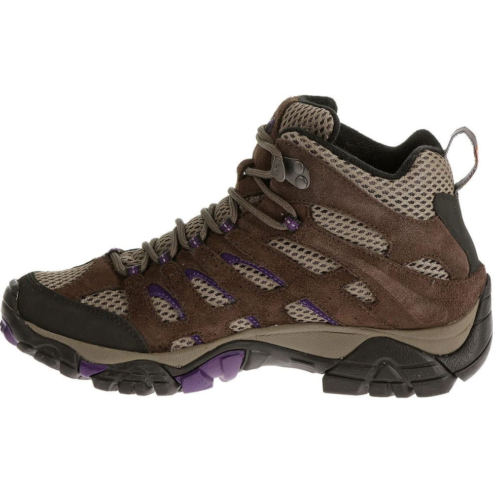MERRELL Women's Moab Ventilator Mid Hiking Boots - BRACKEN