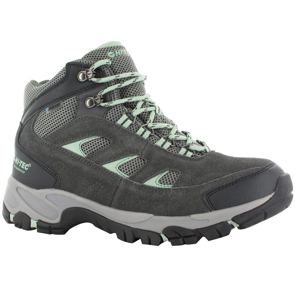 HI-TEC Women's Logan Mid Waterproof Hiking Boots - CHARCOAL