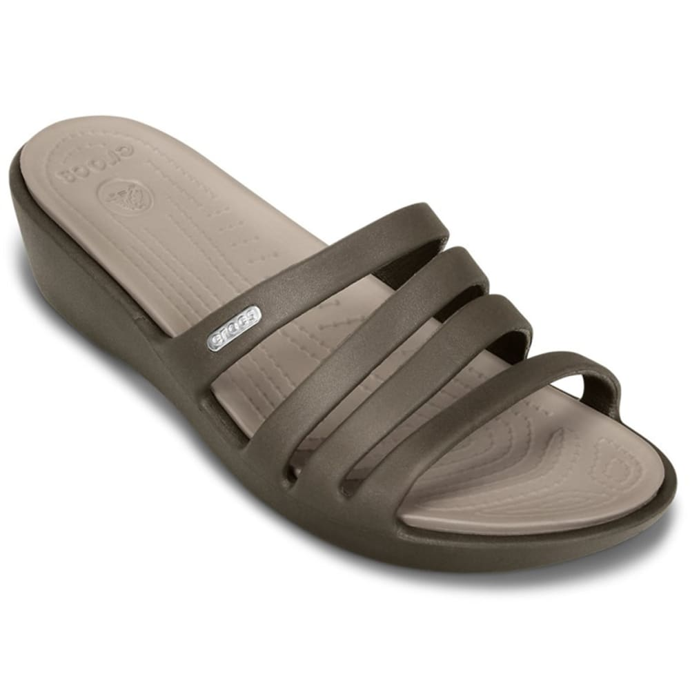 CROCS Women's Rhonda Sandal - BROWN