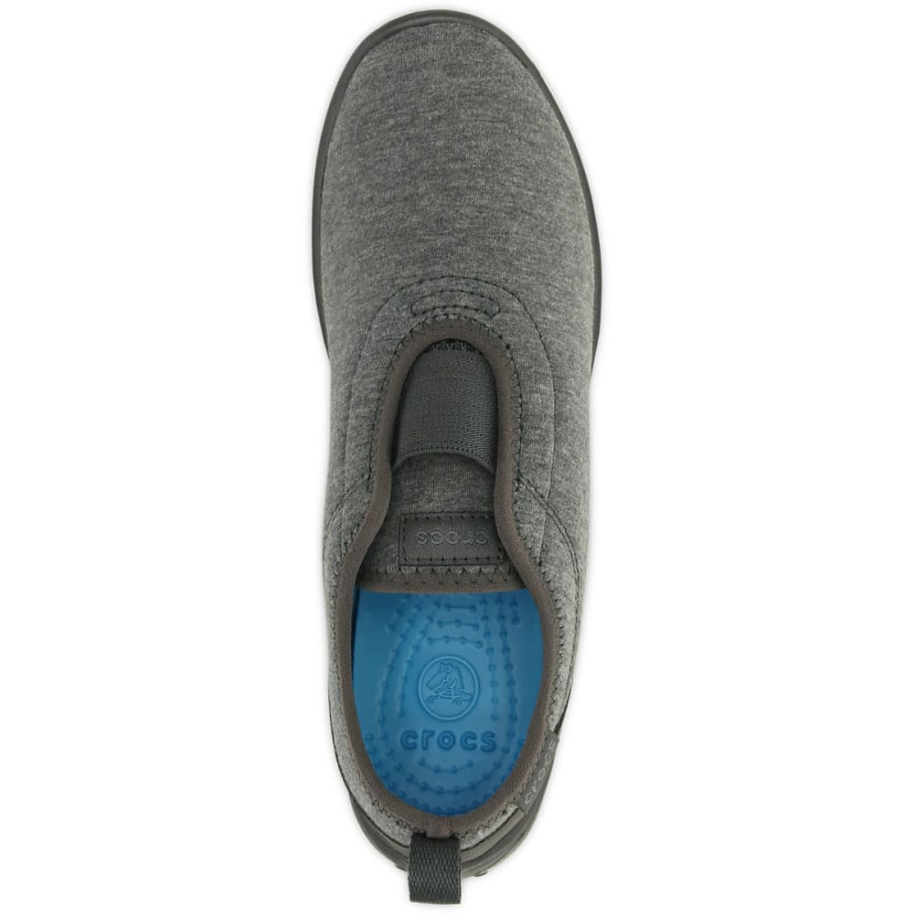 CROCS Women's Duet Busy Day Slip On Shoes - HTHR GREY