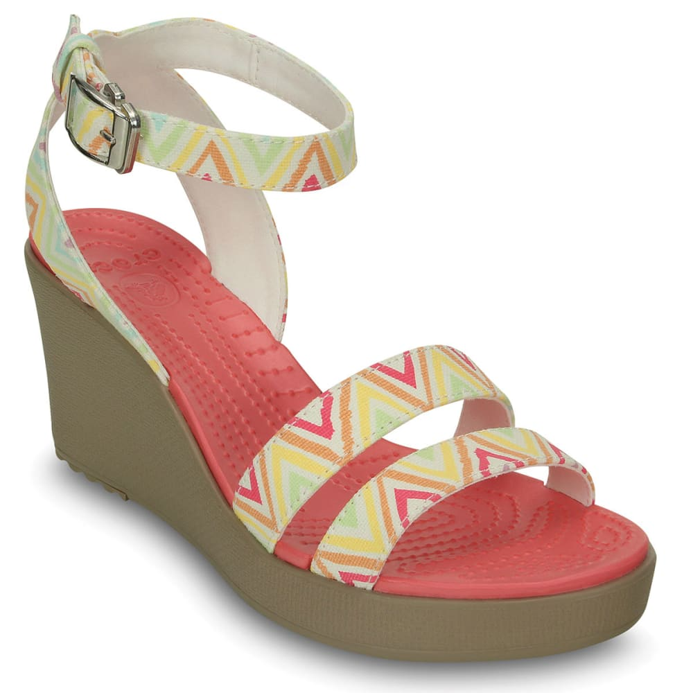 CROCS Women's Leigh Nautical Wedges - MULTI