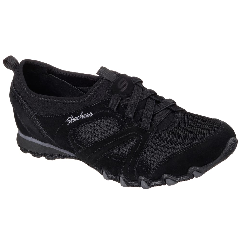 SKECHERS Women's Relaxed Fit Bikers Walking Shoes - BLACK