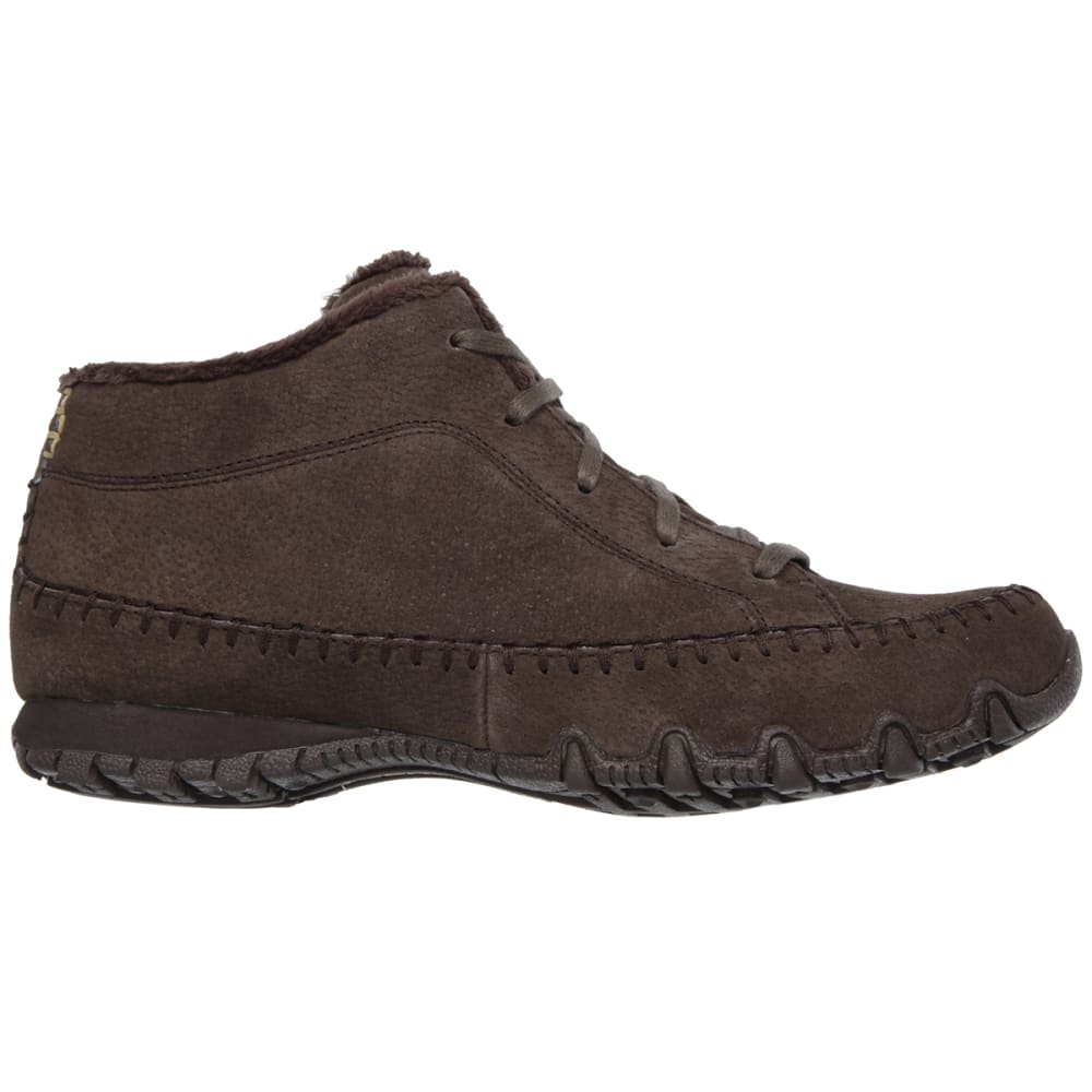 SKECHERS Women's Relaxed Fit: Bikers- Totem Pole Shoes - CHOCOLATE