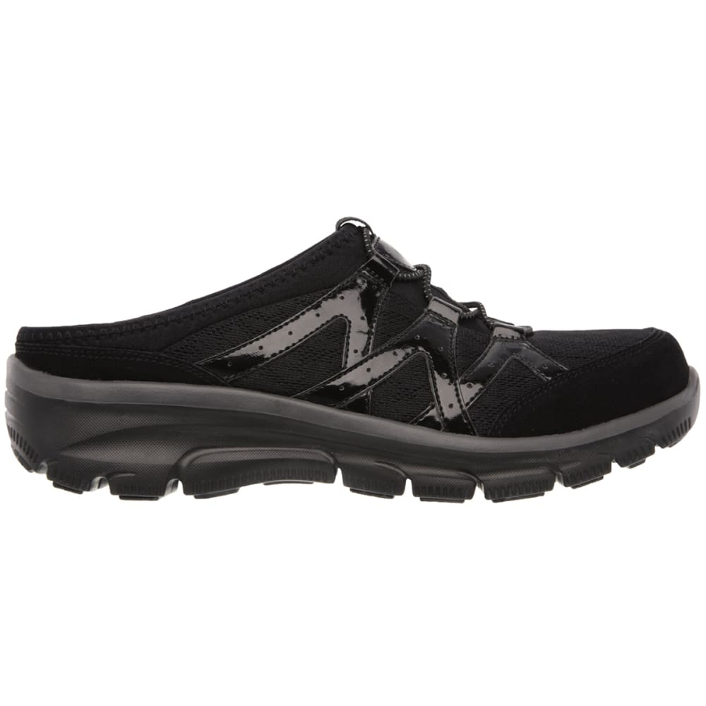SKECHERS Women's Relaxed Fit: Easy Going - Repute Shoes - BLACK/WHT-BLK