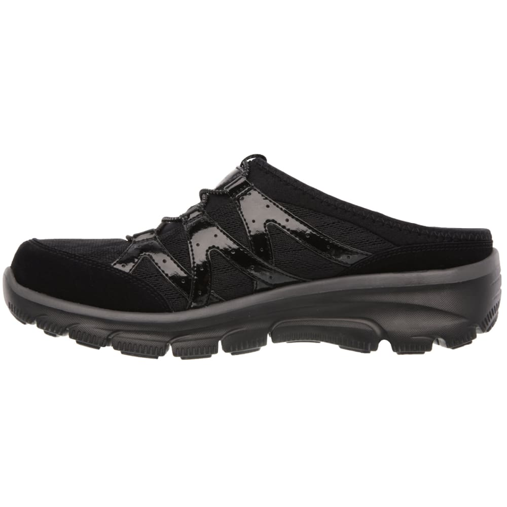 SKECHERS Women's Relaxed Fit: Easy Going – Repute Shoes - BLACK/WHT-BLK