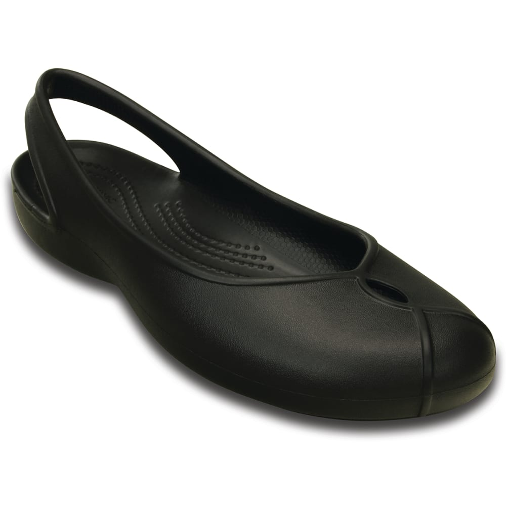 CROCS Women's Olivia II Sling Back Flats - BLACK