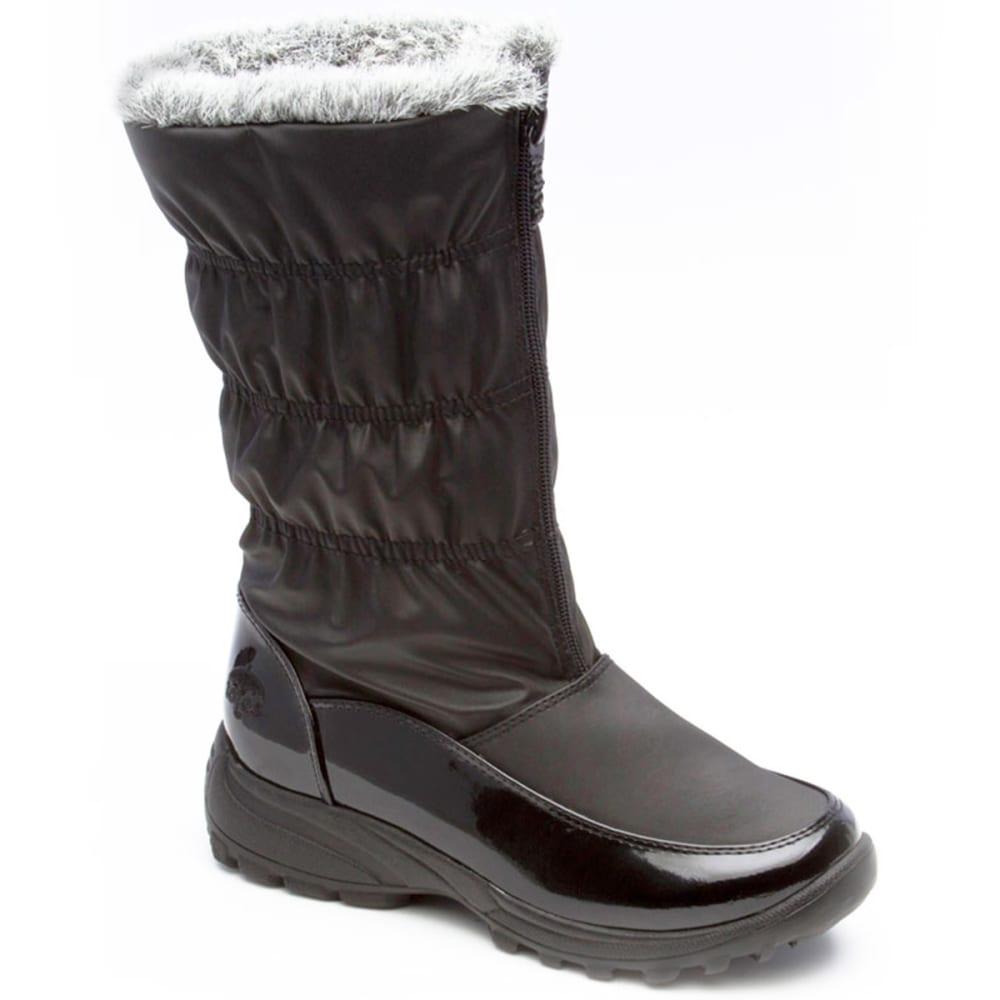 TOTES Women's Rachel Front Zip Boots - BLACK