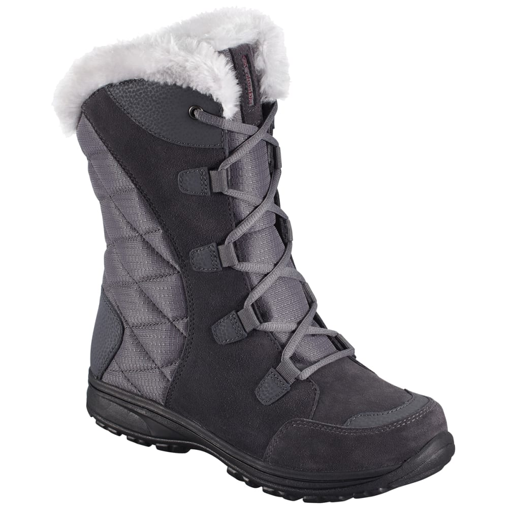 COLUMBIA Women's Ice Maiden II Boots - SHALE/RASPBERRY