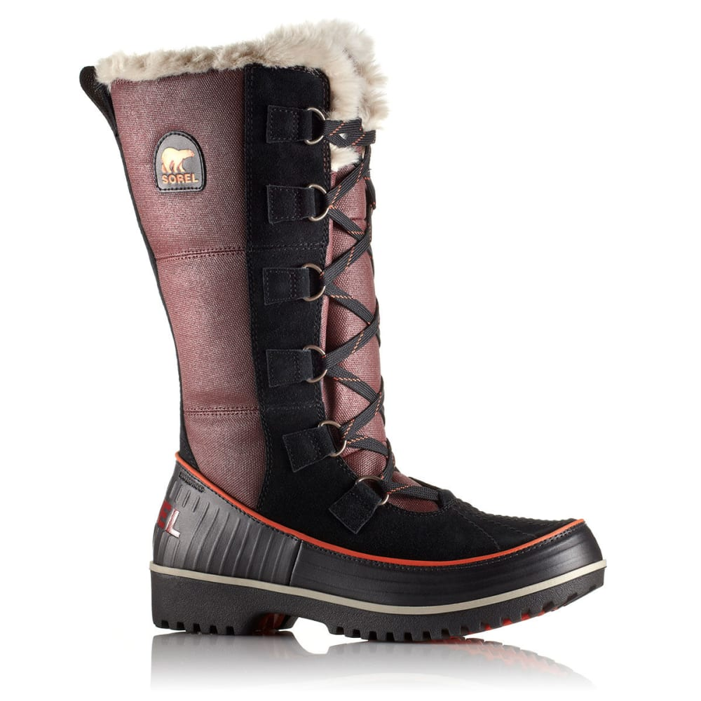 SOREL Women's Tivoli High II Canvas Winter Boots - BROWN