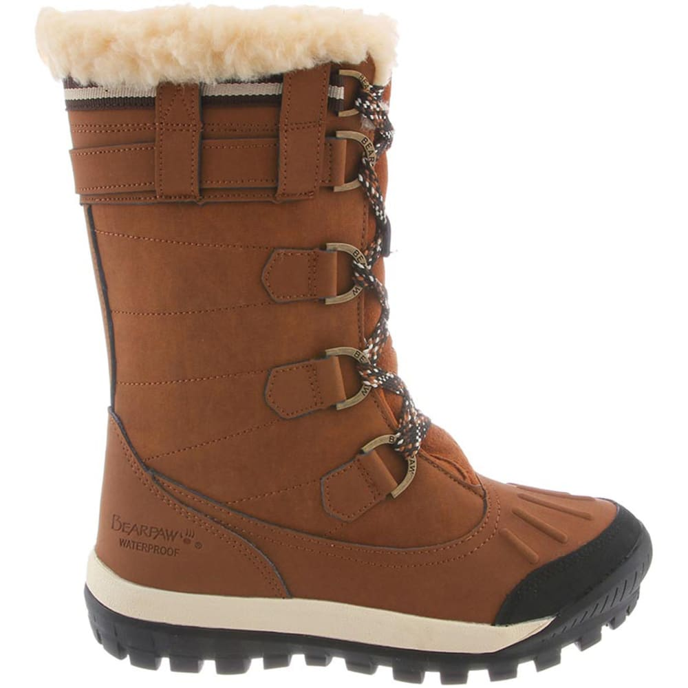 BEARPAW Juniors' Desdemona Lace Up Waterproof Boots - HICKORY-220