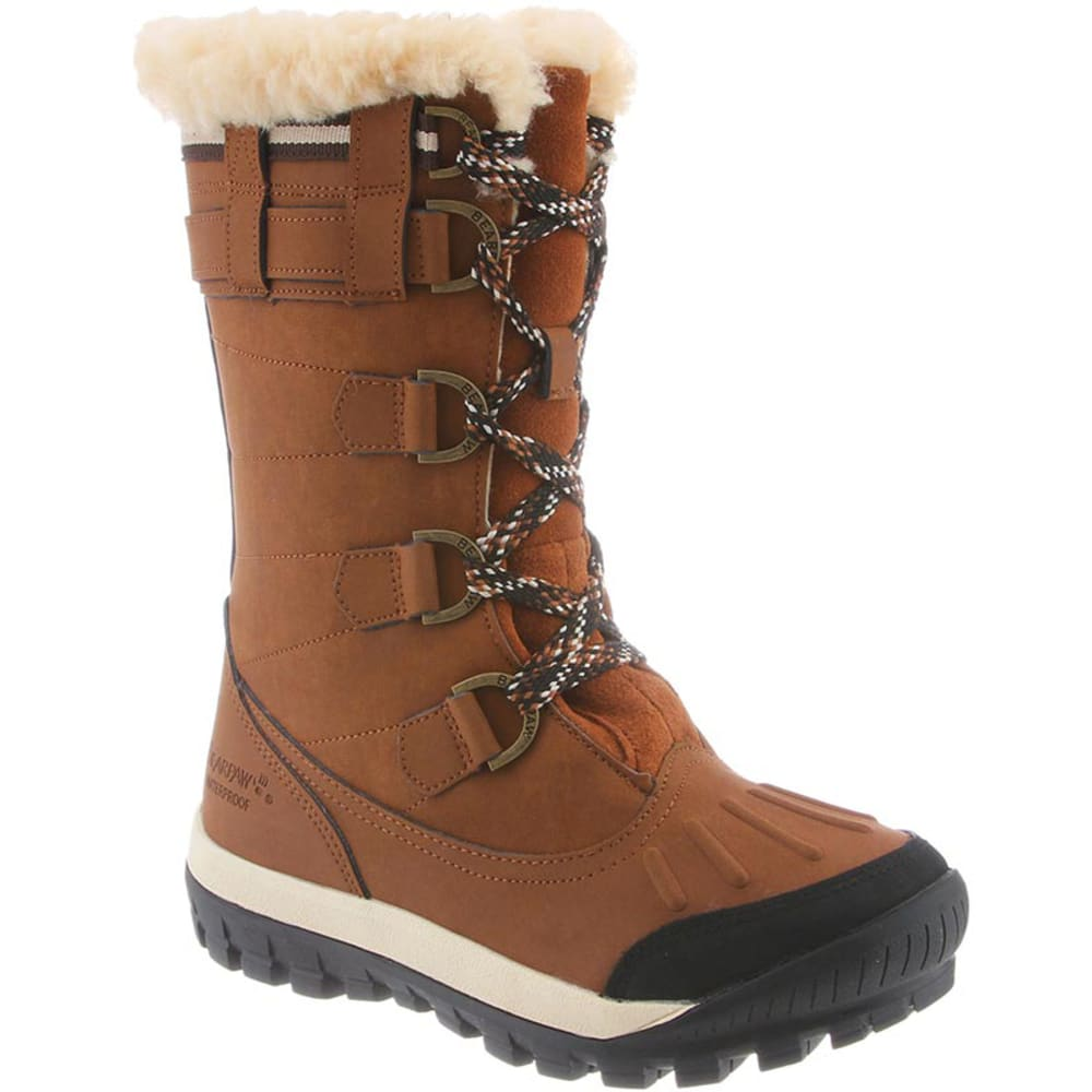 Bearpaw Juniors' Desdemona Lace Up Waterproof Boots - Brown, 6