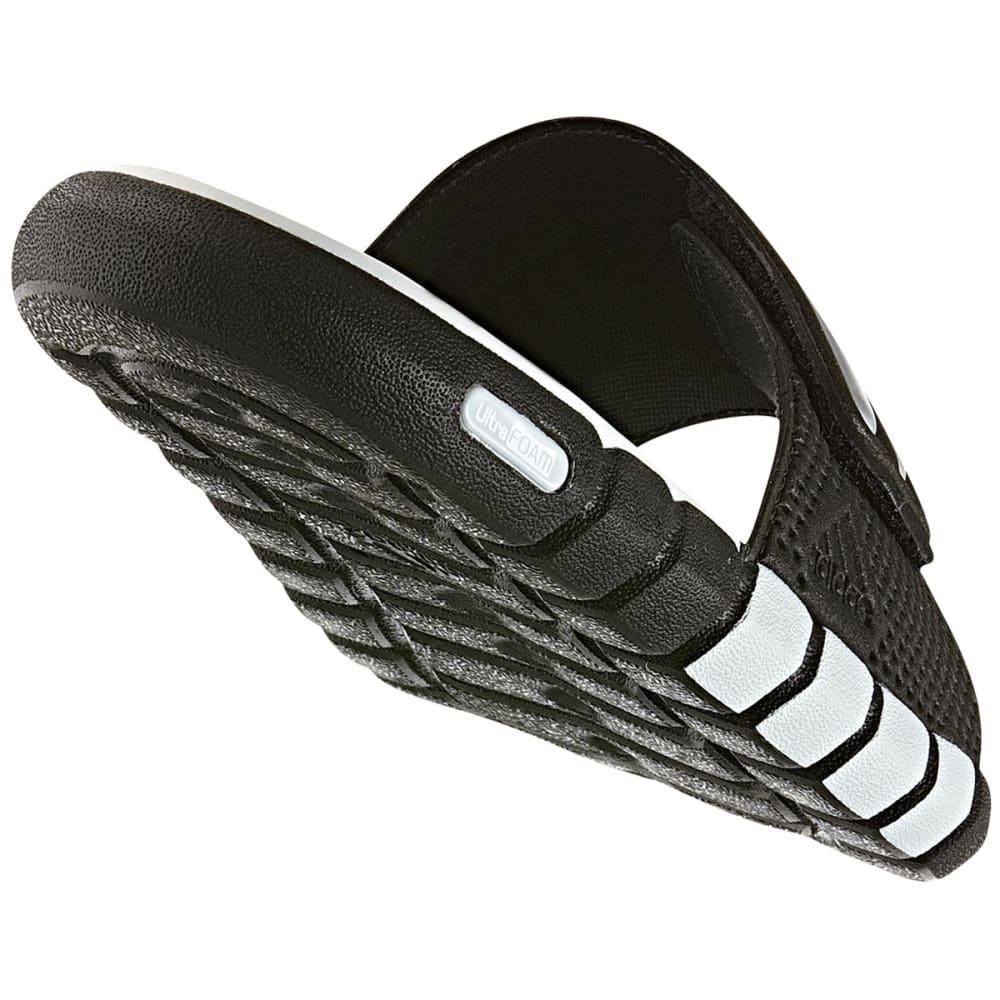 ADIDAS Boys' Adilight Slide Sandals - BLACK/GREY