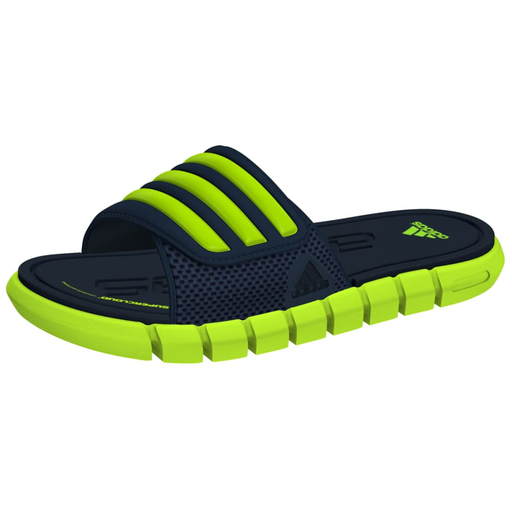 ADIDAS Boys' Adilight SUPERCLOUD Sandals - NAVY/SLIME
