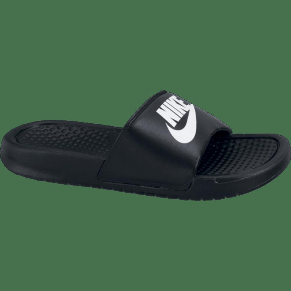 NIKE Kids' Benassi JDI Slide Sandals - BLACK