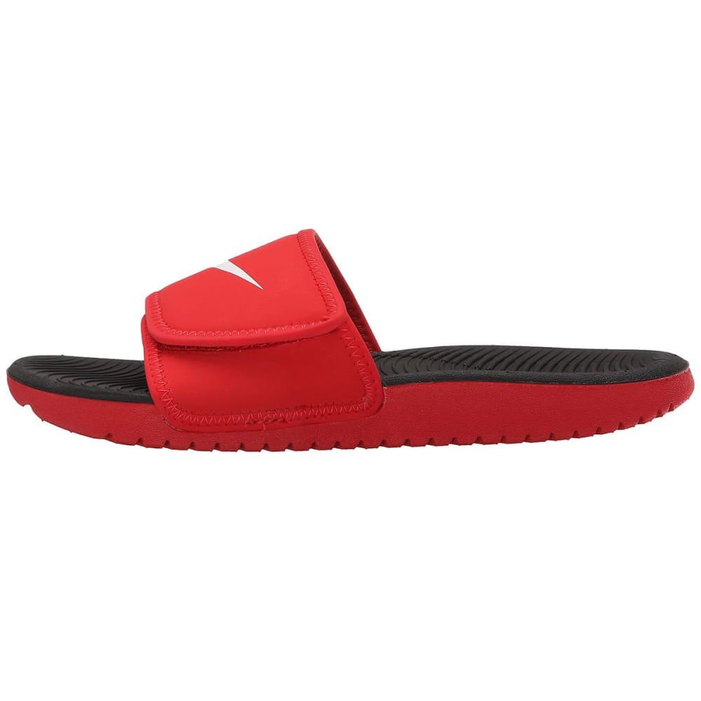 NIKE Boys' Kawa Adjustable Slide Sandals - RED