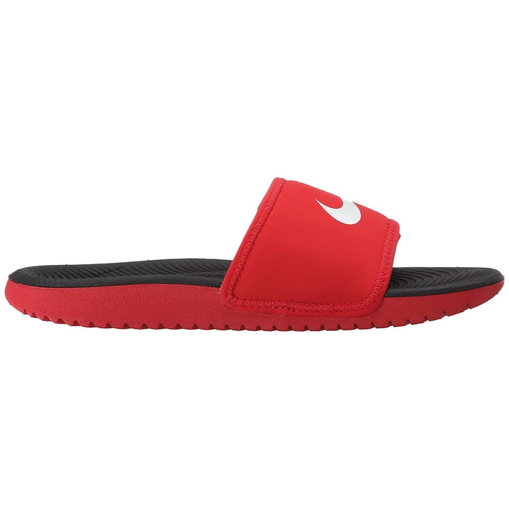 NIKE Boys' Kawa Adjustable Slide Sandals - RED