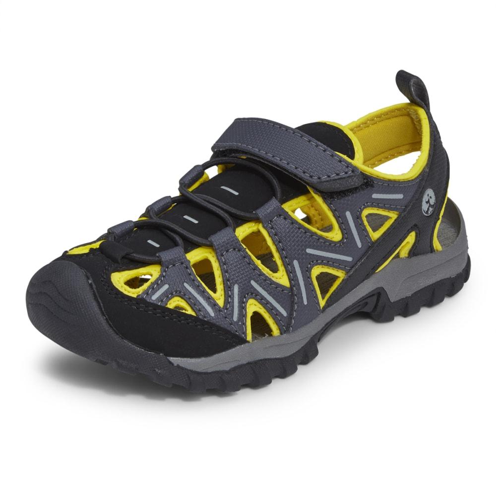 NORTHSIDE Boys' Boulder Sandals, 1-6 - BLACK/YELLOW