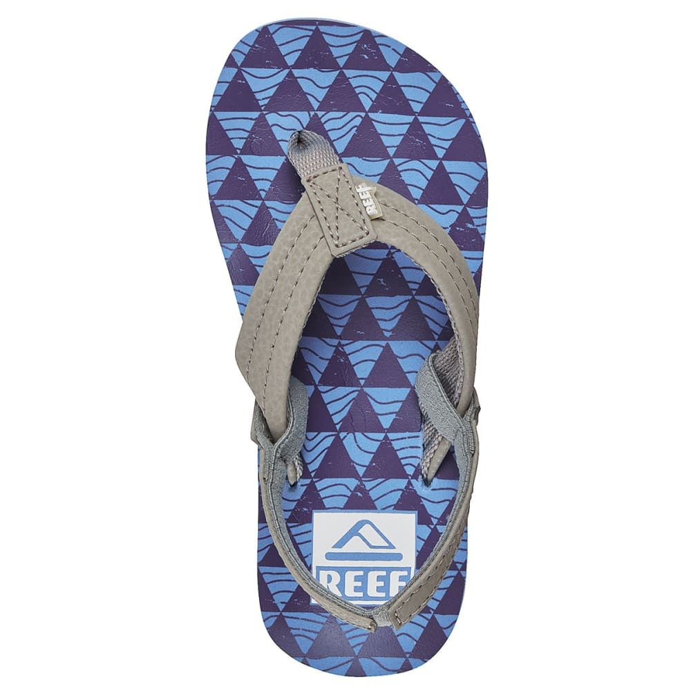 REEF Boys' Ahi Sandals - BLUE/BLUE STACKED