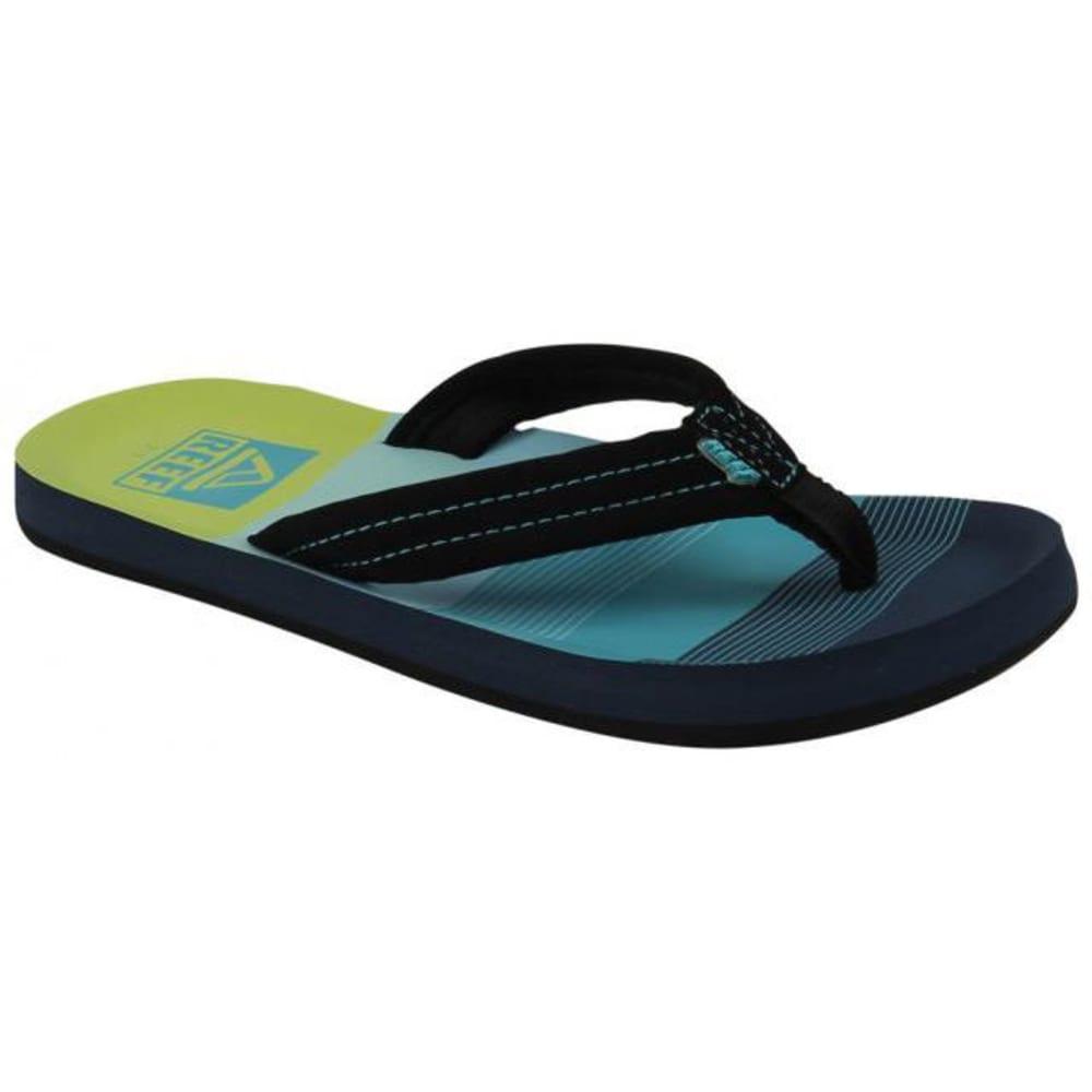 REEF Boys™ Ahi Striped Sandals - BLUE PTRND