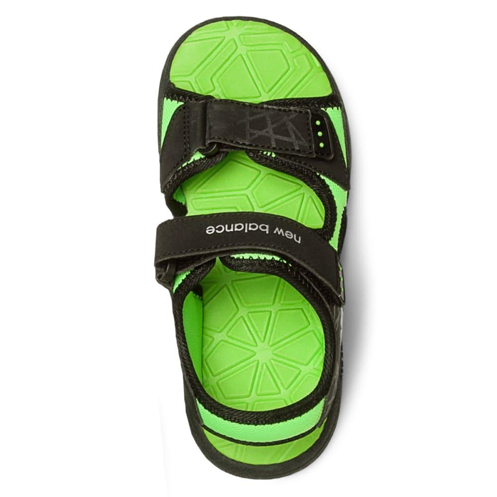 NEW BALANCE Boys' Poolside Sandals V2, Wide - BLACK/GREEN
