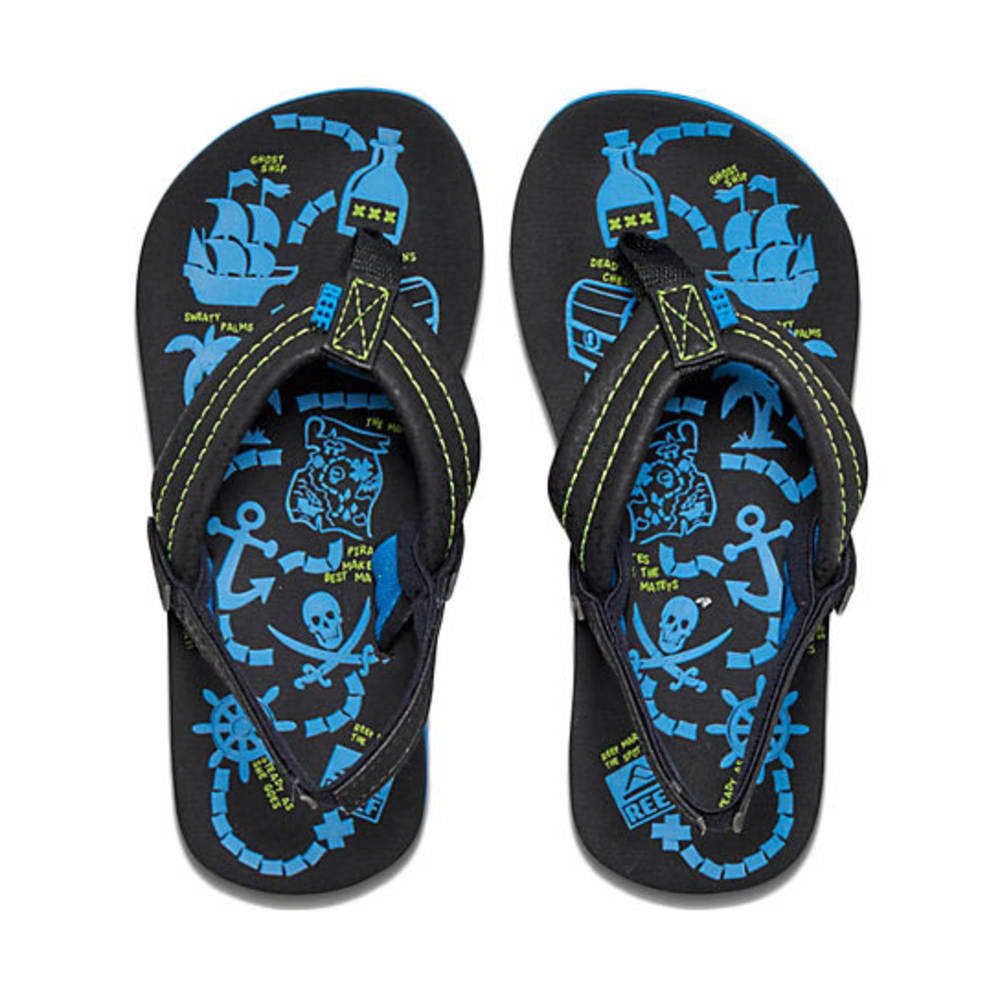 REEF Boys' Ahi Glow Sandals - BLACK