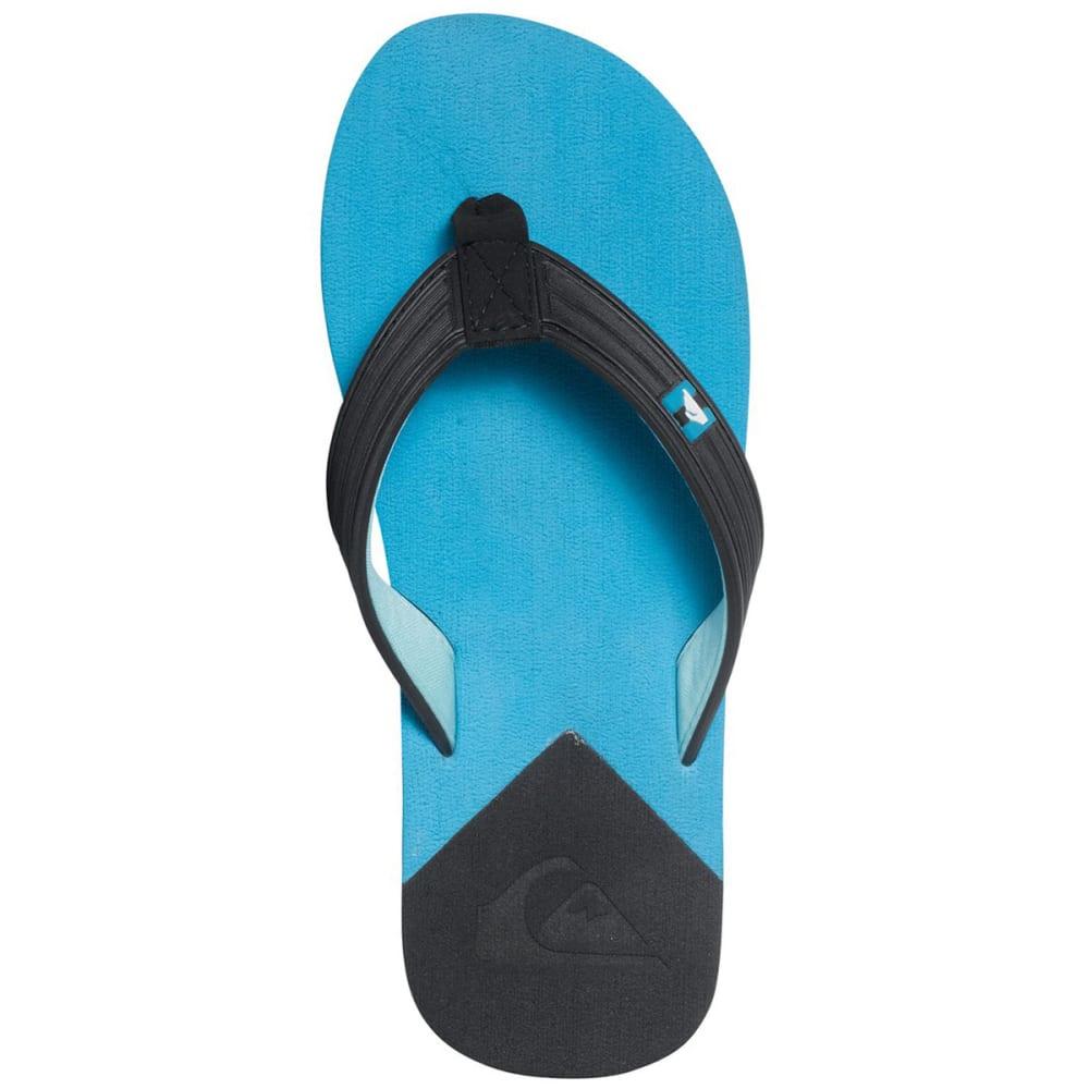 QUIKSILVER Boys' Molokai New Wave Deluxe Sandals - BLACK
