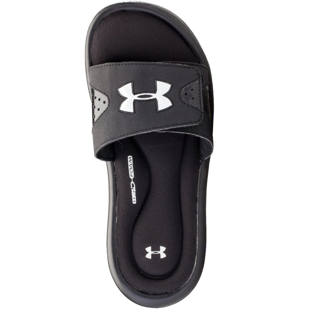 UNDER ARMOUR Boys' Ignite Slide Sandals - BLACK