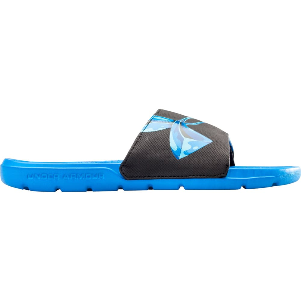 UNDER ARMOUR Boys™ Strike Chrome Sandals - BLACK