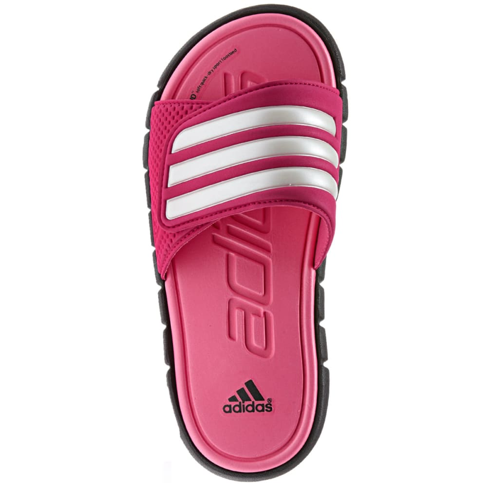 ADIDAS Girls' Adilight SUPERCLOUD Sandals - BLACK/PINK