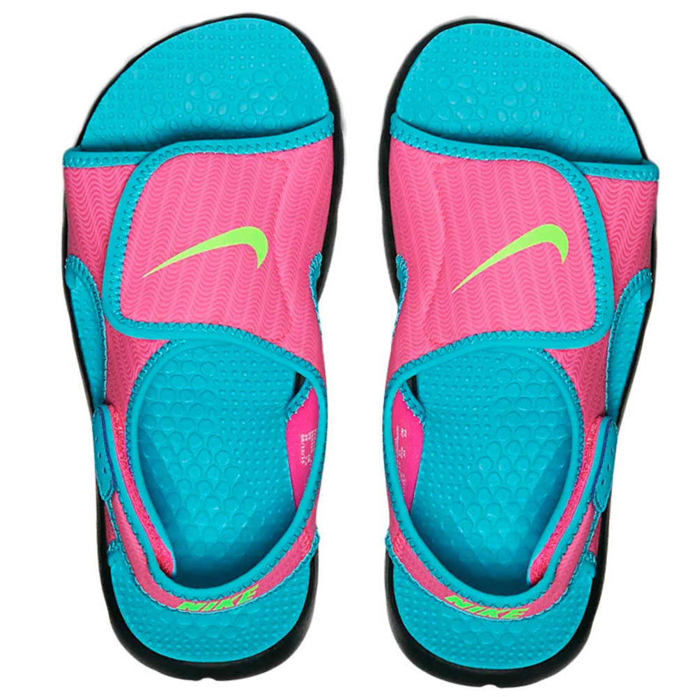 NIKE Girls' Sunray Adjust 4 Sandals - KNOCKOUT PINK