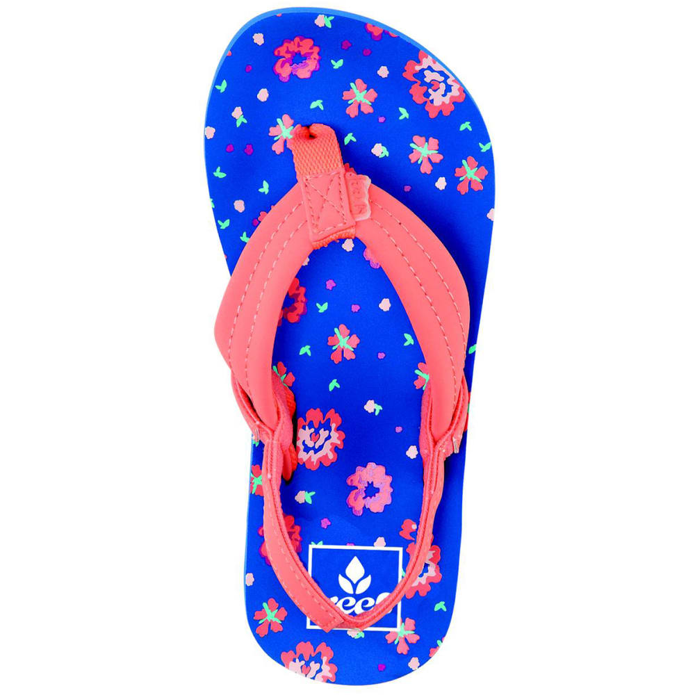 REEF Girls' Little Ahi Sandals - BLUE FLORAL-UFL